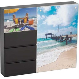 Promotional Black Acrylic Double Frame