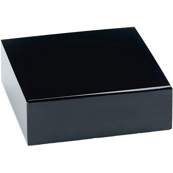 Promotional Black Glass Bases With Custom Logo For $18.94 Ea