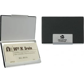 Black Grained Card Case for Your Organization