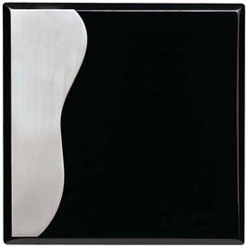 Black with Aluminum Plaque for Marketing