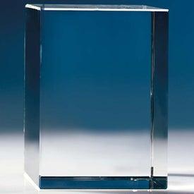Block - Globe Award with Your Logo