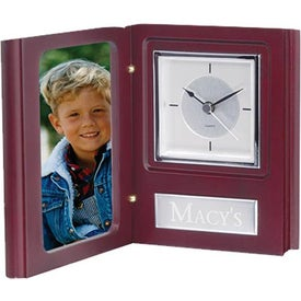 Book Style Clock/Frame for Marketing
