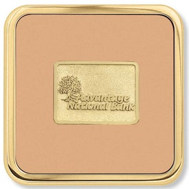 Monogrammed Brass Square Coaster Weight Coaster