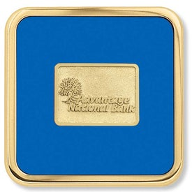 Branded Brass Square Coaster Weight Coaster
