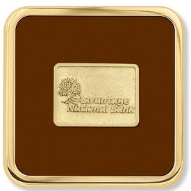 "Brass Square Coaster Weight Coaster (3.875"" x 0.25"" x 3.875"")"