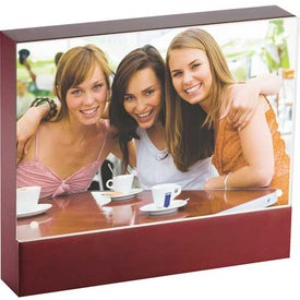 Branded Brown Acrylic Frame