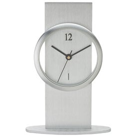 Company Brushed Aluminum Desk Clock