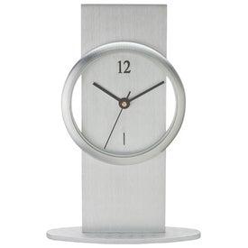 Company Brushed Aluminum Desk Clock