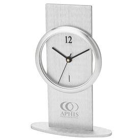 Brushed Aluminum Desk Clock for Customization