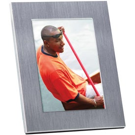 Brushed Matte Aluminum Frame with Your Slogan