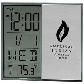 Personalized Brushed Metal Multi Function Alarm Clock