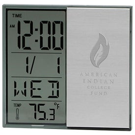 Brushed Metal Multi Function Alarm Clock