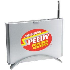 Brushed Metal Desk Top FM Scanner Radio with Your Slogan