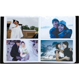 Brushed Silver Metal Photo Album with Your Logo