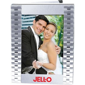 Brushed Silver Metal Photo Album Printed with Your Logo