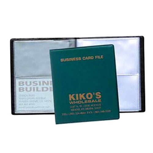 Promotional 4 View Business Card Files with Custom Logo