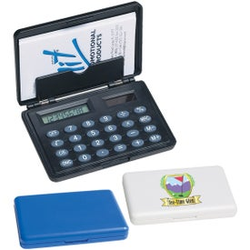 Monogrammed Business Card Holder / Calculator