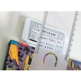 Imprinted Business Card/Magnifier/Ruler/Bookmark