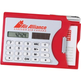 Calculator/Business Card Holder Branded with Your Logo