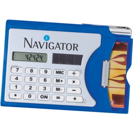 Calculator/Business Card Holder with Your Slogan