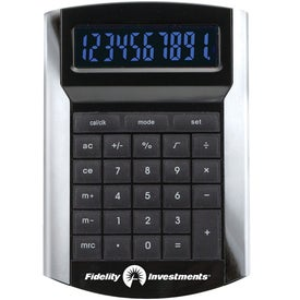 Printed Calculator With Illuminated Display