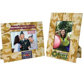 "Camouflage Paper Easel Frame (4"" x 6"")"