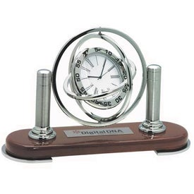 Capricorn Clock Imprinted with Your Logo