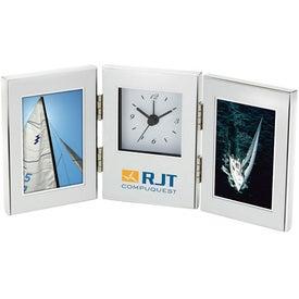 "Cardin II Frame and Clock (2 - 2"" x 3"" )"