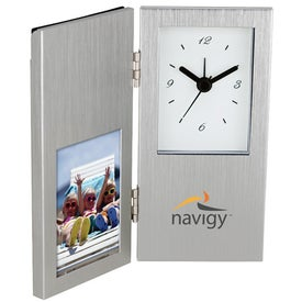 Cardin I Photo Frame and Hinged Clock