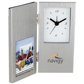 Cardin I Photo Frame and Hinged Clock