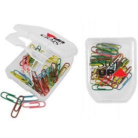Branded Case of Colorful Clips