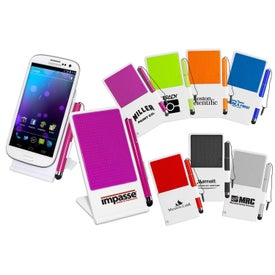 Advertising Cell Phone Stand with Stylus Holder