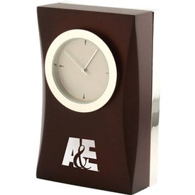 Cherry Wood Desk Clock