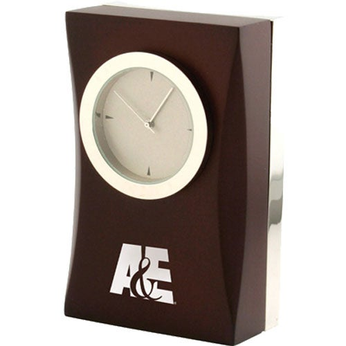 Wood Cherry Wood Desk Clock