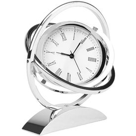 Chrome Spinner Clock for Your Company