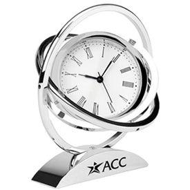 Chrome Spinner Clock