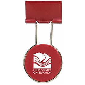 Circle Binder Clip Imprinted with Your Logo