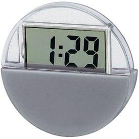 Printed Circular LCD Clock And Calendar