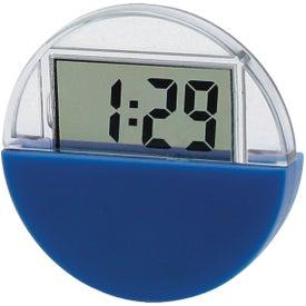 Circular LCD Clock And Calendar Printed with Your Logo
