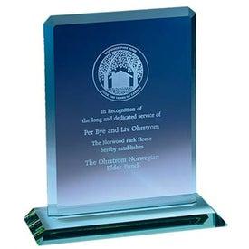 Company Clipped Jade Crystal Award