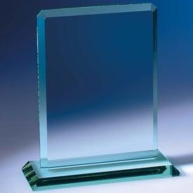 Logo Clipped Jade Crystal Award