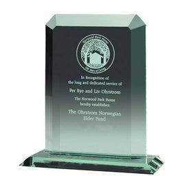 Clipped Jade Crystal Award