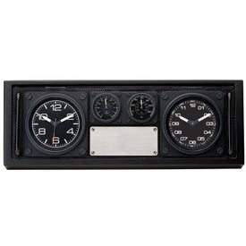Custom Clock and Desk Set