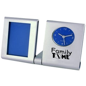 Clock Picture Frame with Your Slogan