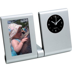 Imprinted Clock Picture Frame