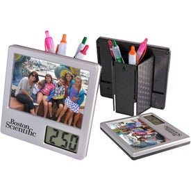 Clock and Photo Pen Caddy for Promotion
