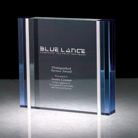 Cosenza III Blue and Aluminum Edged Award (Rectangle)