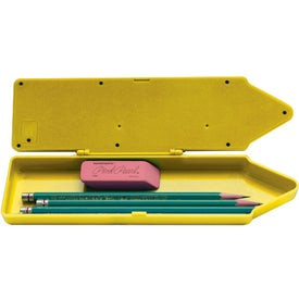 Imprinted Crayon Shaped Pencil Box Calculator
