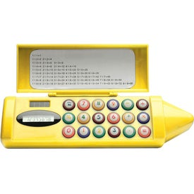 Personalized Crayon Shaped Pencil Box Calculator