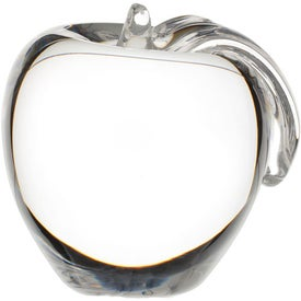 Branded Crystal Apple Paperweight